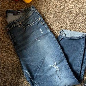 Silver Jeans Pants - Silver boyfriend denim